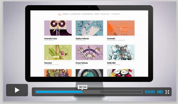 Fotografia, WordPress Responsive Template für Künstler