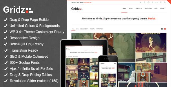 Gridz - Kreativagentur Retina Ready WP Vorlage