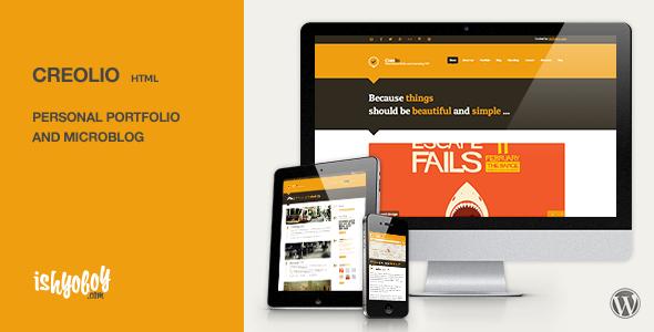 Creolio - Persönliches Portfolio und Microblog-HTML