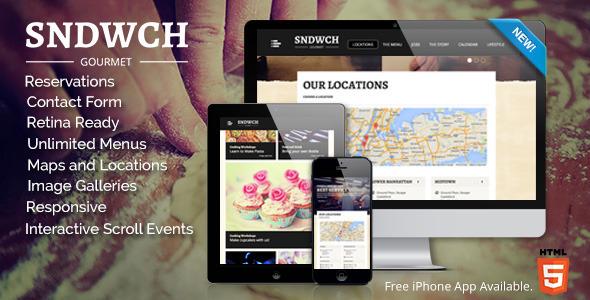 SNDWCH - Restaurant WordPress Layout
