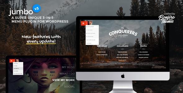 Jumbo: Ein 3-in-1-Vollbild-Menü für WordPress