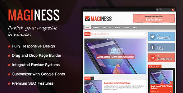 Maginess - Flexibles Magazin WordPress Template