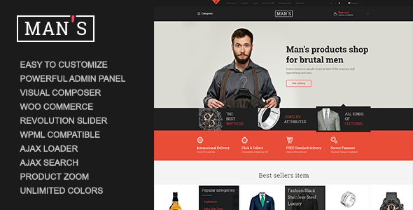 MAN'S - eCommerce Business WordPress Layout