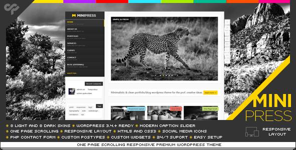 MiniPress - Responsive WordPress One Page Template