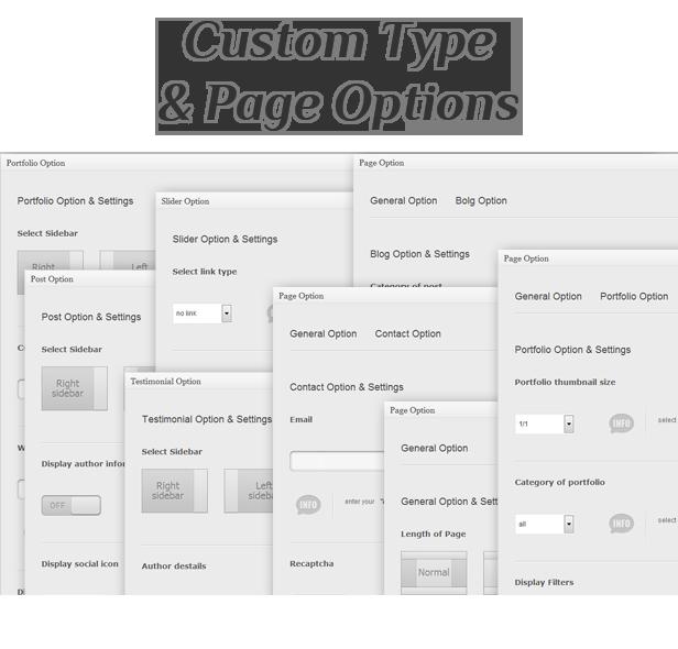 einzigartiges Thema - benutzerdefinierte Typ- und Seitenoptionen