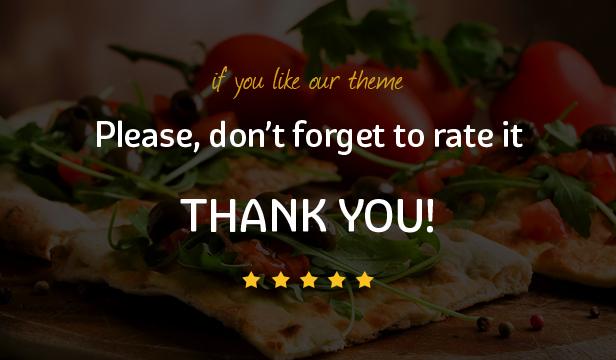 Pizza House - Restaurant / Café / Bistro WordPress Vorlage