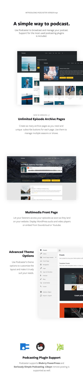 Podcaster - Multimedia WordPress Template