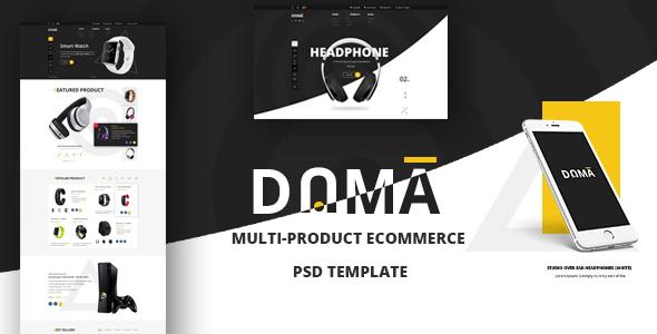 DAMA? Modernes PSD Template für Multi-Produkt eCommerce Webshop