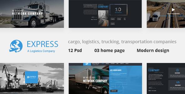 Express - Moderne PSD Vorlage für Transport und Logistik