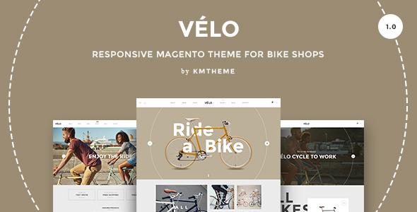 Velo - Responsives Magento Vorlage für Fahrradgeschäfte