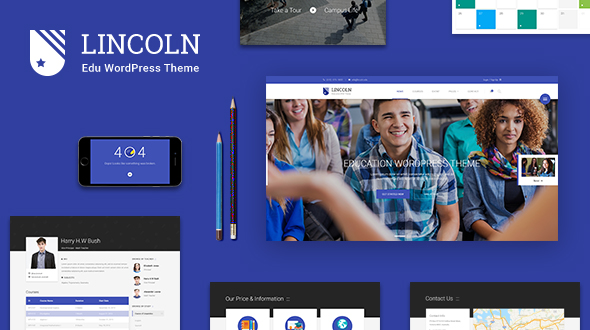 Lincoln - Material Design Bildung WordPress Layout
