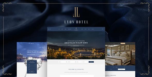 LYON - Luxus Hotel Buchung HTML5 Vorlage