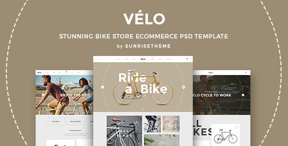 Velo - Atemberaubende Bike Store eCommerce PSD Vorlage