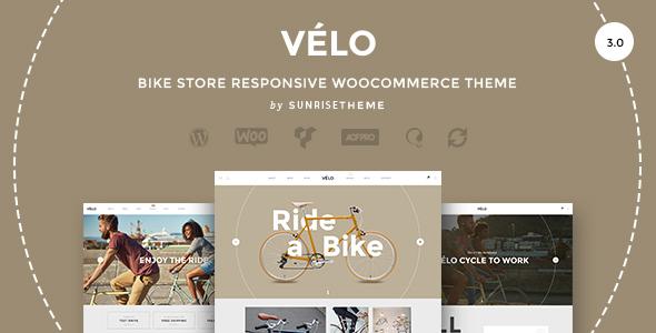 Velo - Responsives Geschäftsthema des Fahrradgeschäftes