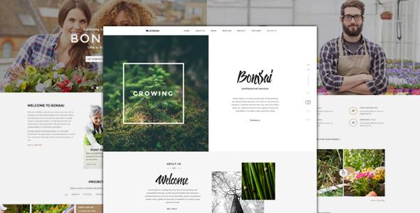 Bonsai - Responsive HTML-Vorlage für Landschaftsgärtner und Gärtner