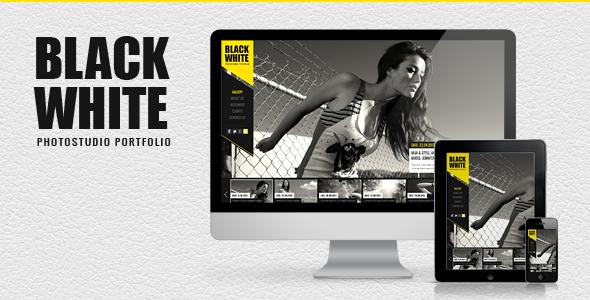 Black & White - Responsives Fotoportfolio