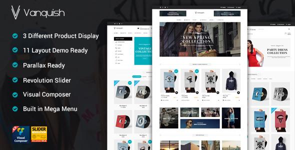 Vanquish - Multi Produkt Display eCommerce Template