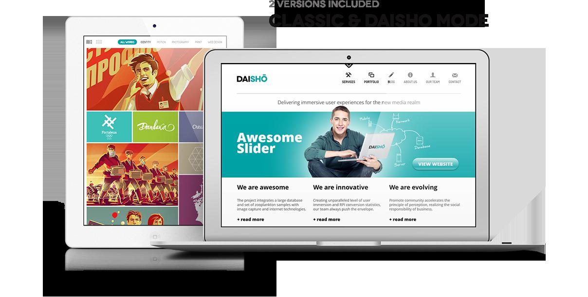 Daisho - Flexibles WordPress Portfolio Thema