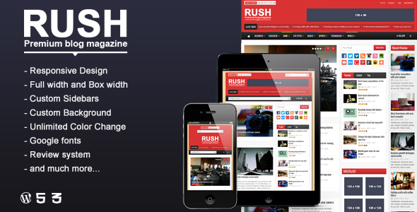 Rush - WordPress Blog & Magazin Layout