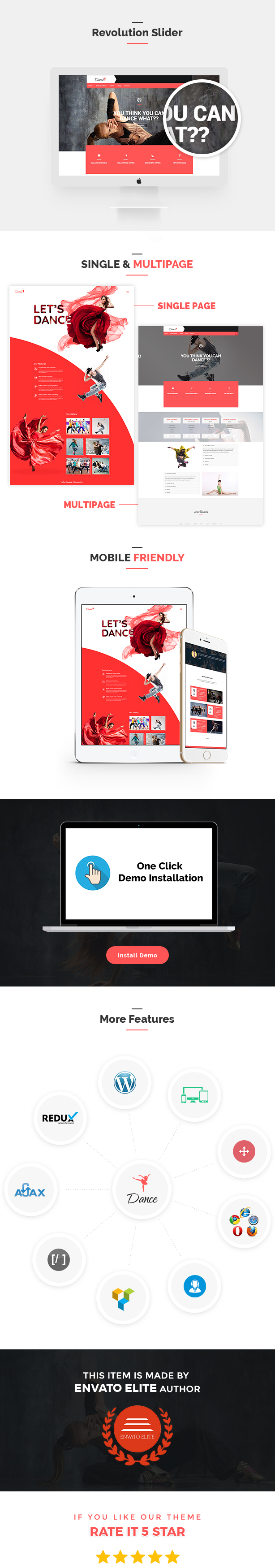 Tanzakademie - Tanzstudio WordPress Template