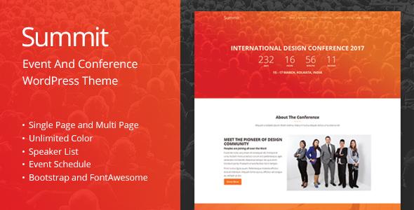 Gipfel - Veranstaltung und Konferenz WordPress Template