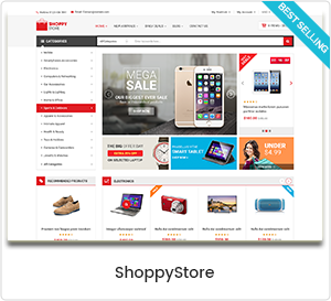 ShoppyStore - Mehrzweck WordPress Template