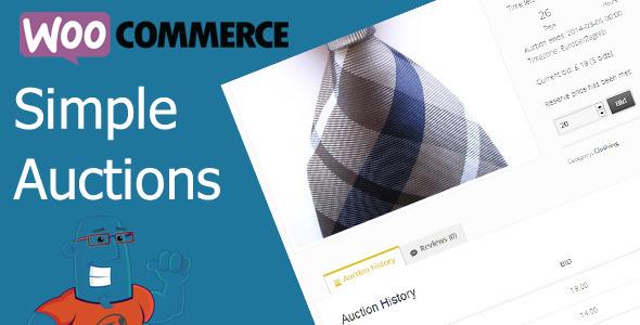 WooCommerce Einfache Auktionen - WordPress Auktionen