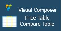 Visual Composer - Preistabelle | Vergleichstabelle