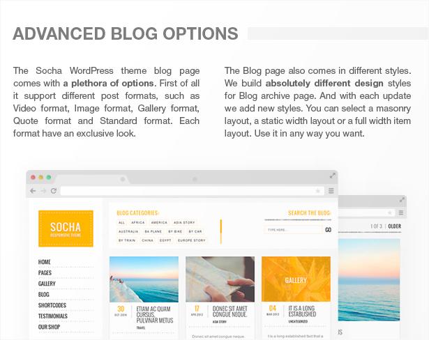 Socha Responsives WordPress Vorlage