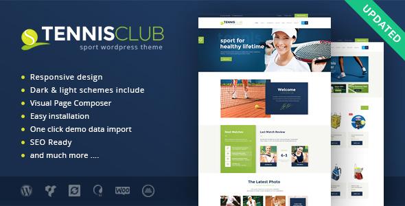 Tennisclub | Sport & Events WordPress Layout