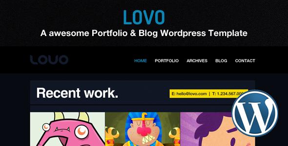 Lovo Wordpress Portfolio und Blog Vorlage
