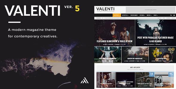 Valenti - WordPress HD Review Magazin Nachrichten Thema