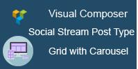 Visual Composer - Social Stream-Beitragstypraster und -karussell