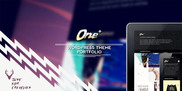 One Plus - Portfolio Layout Nur für Kreative