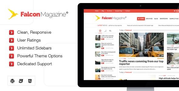 Falcon - Responsives WordPress Magazin Template