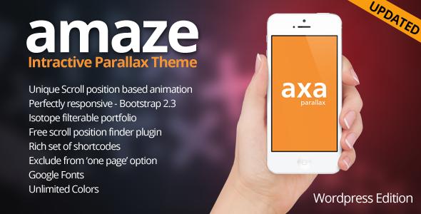 AMAZE - Wordpress interaktives Parallax-Thema