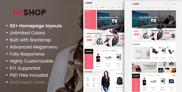 H2shop - Responsive WooCommerce Shop WordPress Template