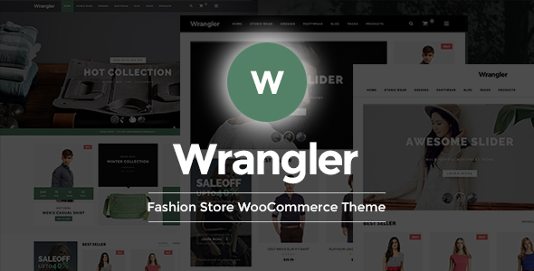 Wrangler - Mode und Bekleidungsgeschäft WooCommerce WordPress Template