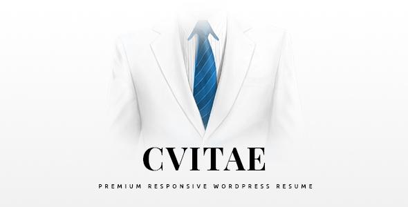 CVitae - Premium Responsive WordPress Lebenslauf