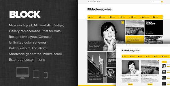 Block Magazine - Flaches und minimalistisches Blogthema