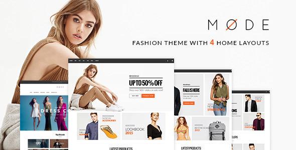 Modus - moderne Mode WooCommerce WordPress Layout