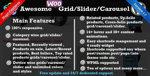 WooCommerce Produkt Slider / Karussell / Grid
