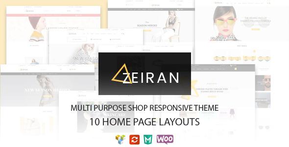 Zeiran - Mehrzweck Responsive WooCommerce Vorlage