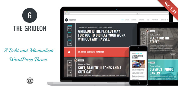 Grideon - Responsives kreatives WordPress Vorlage