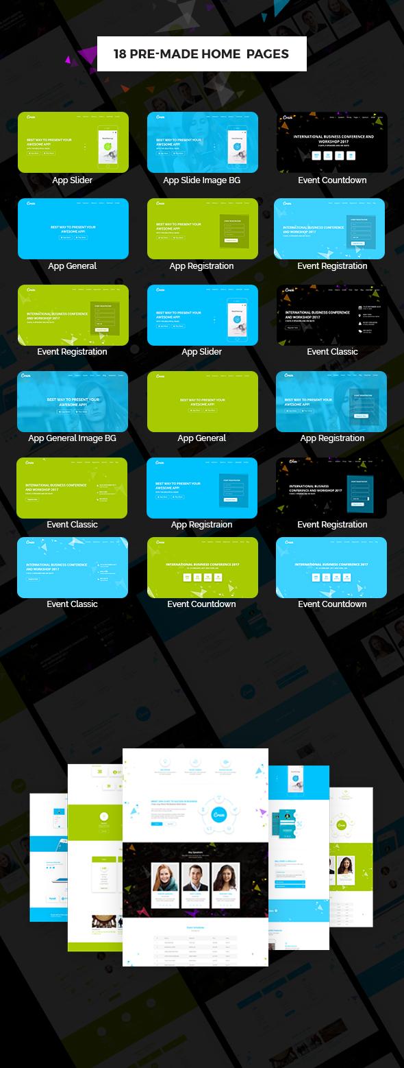 Craze - App Veranstaltung und Konferenz WordPress Vorlage