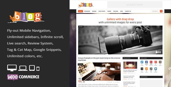 Bblog - Blog / Magazin WordPress Layout