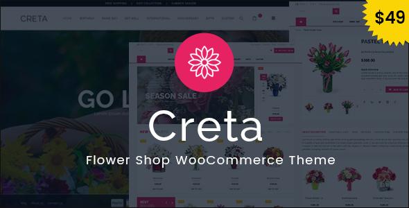 Creta - Blumenladen WooCommerce WordPress Vorlage