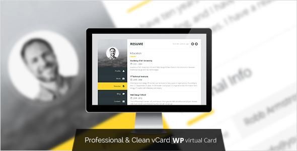 Premium-Ebenen: WordPress vCard & Resume Vorlage
