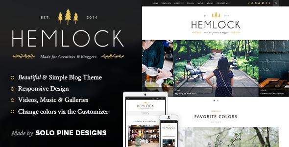 Hemlock Ein Responsives Wordpress Blog Template Agentur Zweigelb