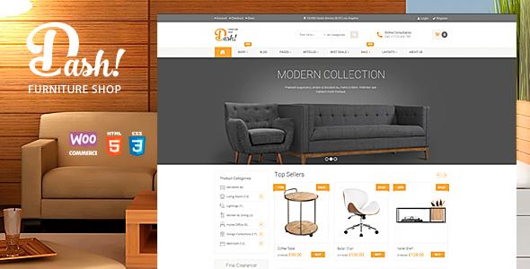 Dash - handgemachte Möbel Marketplace Vorlage